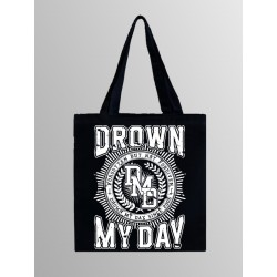 DROWN MY DAY TOTE BAG (BLACK))
